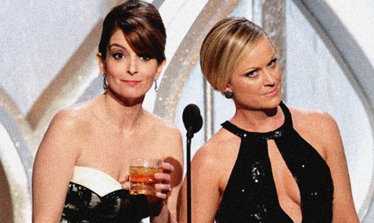 Tina Fey and Amy Poehlerat the Golden Globes
