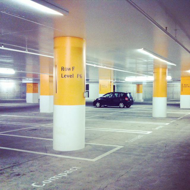 walt-disney-parking-garage-car